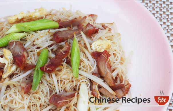 Roast Pork Vermicelli Noodles - Chinese Recipes For All