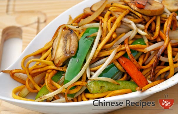 Vegetable Chow Mein Noodles - Chinese Recipes For All.com